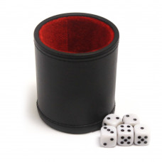 Dice cup of Leatherette