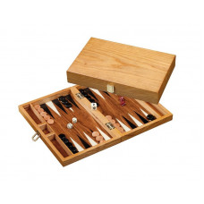Backgammon set in wood Madraki S Travel
