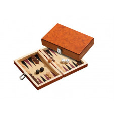 Backgammon set in wood Karpathos XS Travel
