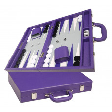Silverman & Co Favour M Backgammon set in Purple