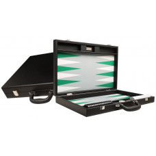 Silverman & Co Premium L Backgammon set in Black