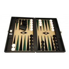 Backgammon board M Popular 36 mm Stones BL-be-bl-gr