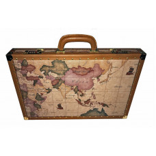 Backgammon Board in Leather World map design