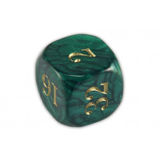 Backgammon Doubling Cube Acrylic in Dark Green 22 mm