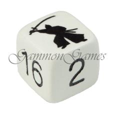 "Backgammon dubblerings-kub 30 mm ""Samurai Warrior"""