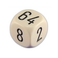 Backgammon Doubling Cube Solid in Ivory 30 mm