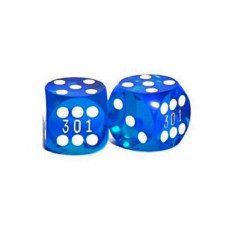 Backgammon Numbered precision dice in Blue 13 mm