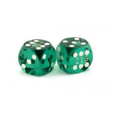 Numrerade Backgammon Precisionstärningar 13 mm  i grönt