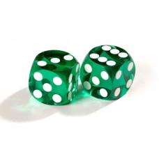 Officiella precisionstärningar backgammon 14 mm i grönt