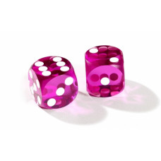 Official backgammon precision dice 13 mm Purple