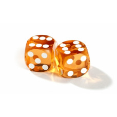 Official backgammon precision dice 13 mm Amber