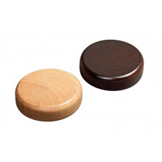 Backgammon pieces made of Alder Diam 30 mm