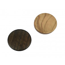 Backgammon pieces made of Olive-wood Diam 26 mm