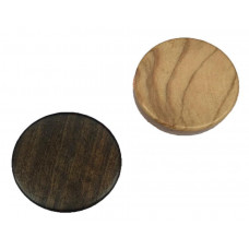 Backgammon pieces made of Olive-wood Diam 37 mm