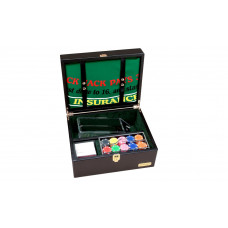Complete Black Jack set Dollar Genuine Leather