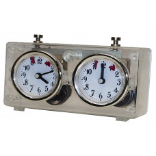 Chess clock BHB mechanical plastic transparent
