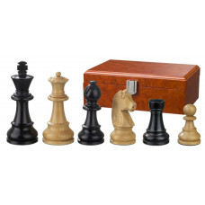 Wooden Chessmen Ludwig XIV hand-carved KH 95 mm