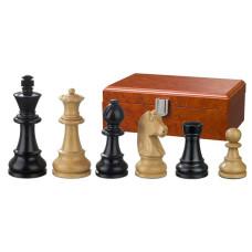 Schackpjäser Ludwig XIV handsnidade i trä 95 mm
