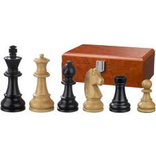 Schackpjäser Ludwig XIV handsnidade i trä 110 mm