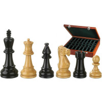Wooden Chess Pieces Hand-carved BN-Nero-Matte KH 95 mm