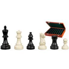 Schackpjäser handsnidade i trä 95 mm Nero