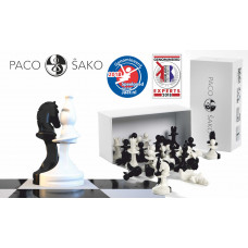 Paco Sako Chess Pieces Solidarity in Black & White