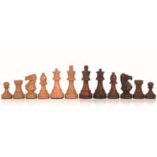 Schackpjäser handsnidade i trä 100 mm Classic