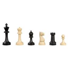Schackpjäser Nerva i plast, i svart och benvitt KH 95 mm