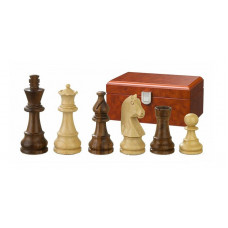 Schackpjäser 76 mm Titus i sheesham och buxbom