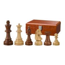 Schackpjäser Sigismund handsnidade i trä 83 mm