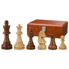Wooden Chessmen Hand-carved Sigismund KH 95 mm