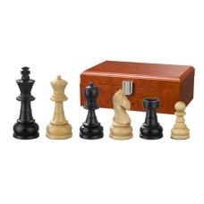 Schackpjäser handsnidade i trä 83 mm Chlodewig