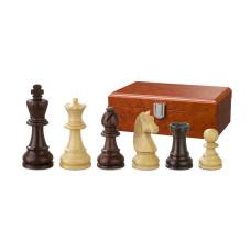 Schackpjäser Barbarossa handsnidade i trä 78 mm