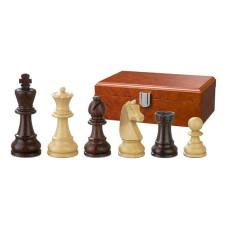 Schackpjäser Barbarossa handsnidade i trä 90 mm