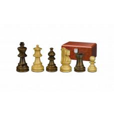 Schackpjäser Napoleon handsnidade i trä 65 mm