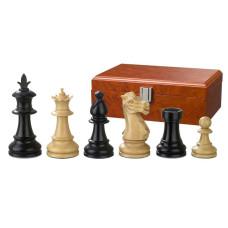 Schackpjäser handsnidade i trä 83 mm Macrinius