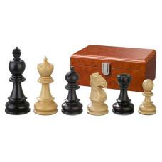 Schackpjäser handsnidade i trä 90 mm Galerius