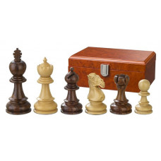 Schackpjäser handsnidade i trä 90 mm Avitus