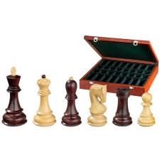 Schackpjäser handsnidade i trä 95 mm Peter the Great