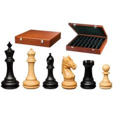 Schackpjäser handsnidade i trä 110 mm Amoss