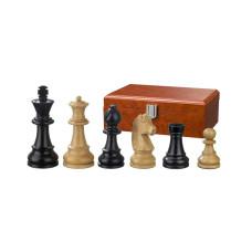 Schackpjäser Ludwig XIV handsnidade i trä 70 mm