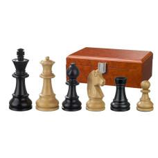 Schackpjäser Ludwig XIV handsnidade i trä 90 mm