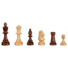 Chessmen of Alder hand-carved Heinrich KH 90 mm