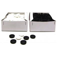 Go-pjäser av glas i svart och vitt