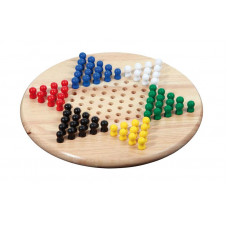 Chinese checkers game standard M hevea wood