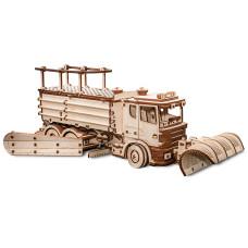 Snow Truck 3D pussel i trä från EWA